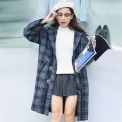 Ivena - Plaid Double-Breasted Coat