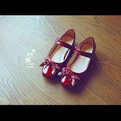 BOOM Kids - 小童蝴蝶結漆皮平跟鞋