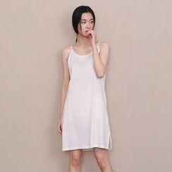 兰芝 - 纯色吊带裙
