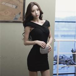 Dream Girl - Cap Sleeve Sheath Mini Party Dress