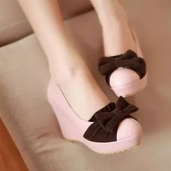 Pangmama - Colour Block Bow Wedges
