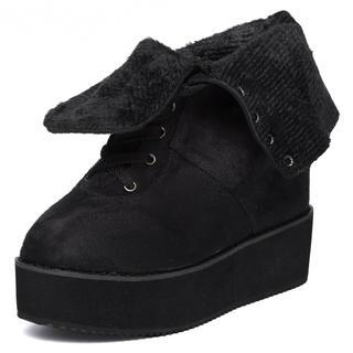 yeswalker - Hidden Wedge Lace-Up Platform Boots