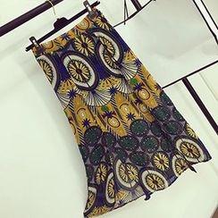 About a Girl - Print Chiffon Midi Skirt