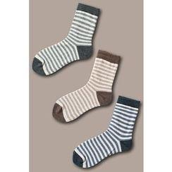 LIFEDIFF - Set of 3: Plain Socks