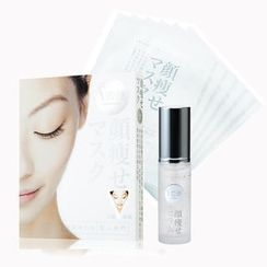 BIJINSENMON - Trial Set - For Face : Face-Slimming Serum (30ml) + V Face-Slimming Mask (6 pcs)