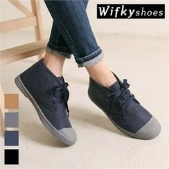 Wifky - Toe-Cap Faux-Suede High-Top Sneakers