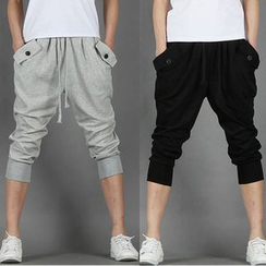 Bay Go Mall - Cropped Baggy Pants