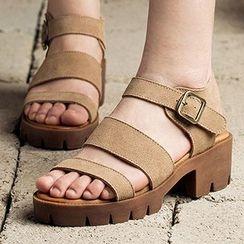 MIAOLV - Block Heel Platform Sandals