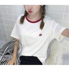 MATO - Applique Short-Sleeve T-Shirt