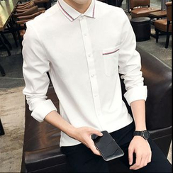 Danjieshi - Long-Sleeve Oxford Shirt