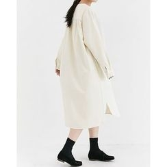 Someday, if - Half-Placket Cotton Long Dress