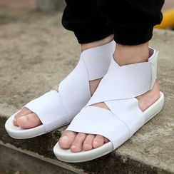 BINSHOU - Plain Flat Sandals