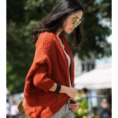 SO Central - Cable-Knit Open-Front Cardigan
