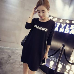 Eureka - Lettering T-Shirt Dress