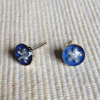 MyLittleThing - Resin Little Snowflake Earrings (Purple Blue)