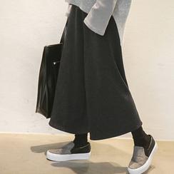 NANING9 - Fleece-Lined Wide-Leg Pants