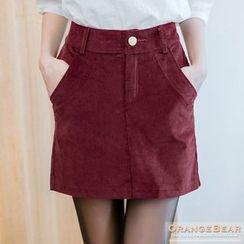 OrangeBear - Corduroy Mini Skirt