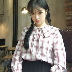 QZ Lady - Plaid Blouse