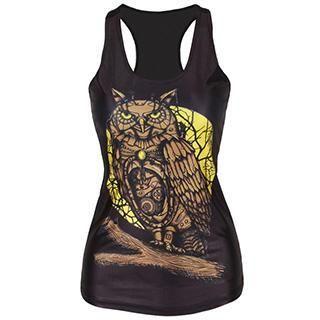 Omifa - Owl-Print Tank Top