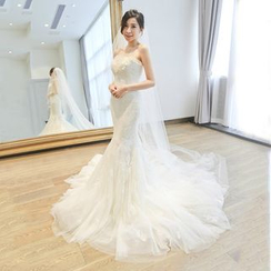 YACCA - Strapless Mermaid Long Train Wedding Dress