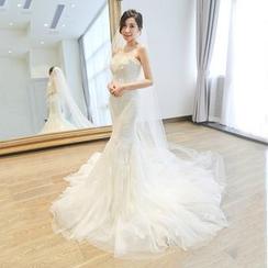 燕芳菲 - 抺胸長尾婚紗裙