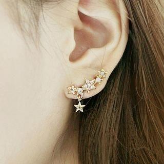 Cuteberry - Rhinestone Star Ear Cuff