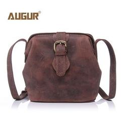 AUGUR - Genuine Leather Buckled Shoulder Bag