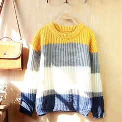 Angel Love - Striped Chunky Sweater