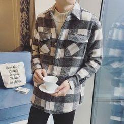 qiaqiayes - Plaid Woolen Jacket