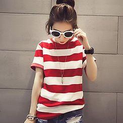 Fashion Street - Stripe Short-Sleeve T-shirt