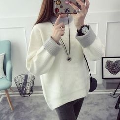 Qimi - Contrast Trim Sweater