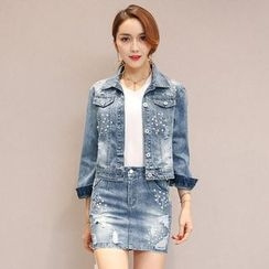Romantica - Sequined Denim Jacket