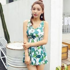 Morning Dew - Floral Print Swimdress