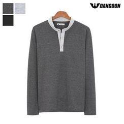 DANGOON - Long-Sleeve Contrast-Trim T-Shirt