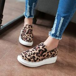 Shoes Galore - Leopard Print Slip Ons