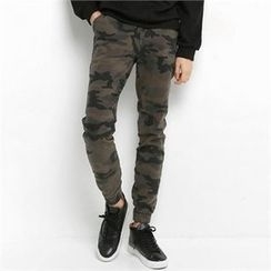 Smallman - Band-Waist Camouflage Pants