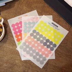 Full House - 半透明彩色圓形標記貼紙