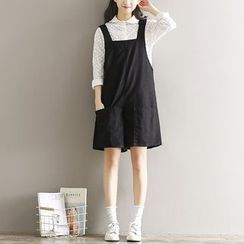 Clover Dream - Plain Pinafore Playsuit