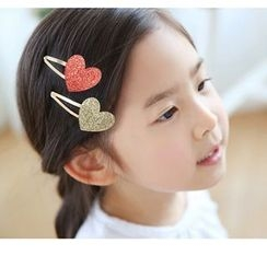 Chapa - Kids Heart-Accent Hair Clip