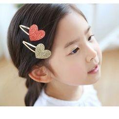 Chapa - Kids Heart-Accent Hair Clip