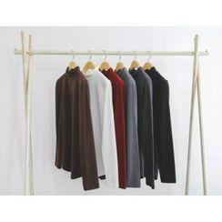 JUSTONE - Mock-Neck Brushed-Fleece Lined Top