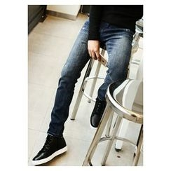 HOTBOOM - Brushed-Fleece Lined Slim-Fit Jeans