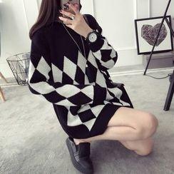 Qimi - Argyle Knit Dress
