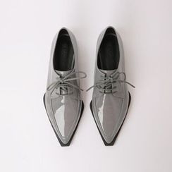 Cherryville - Pointy-Toe Patent Oxfords