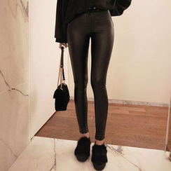 Seoul Fashion - Faux-Leather Leggings