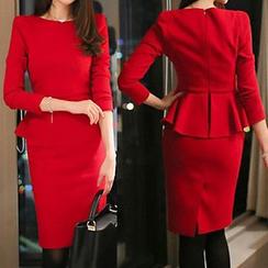 Yilda - Peplum Midi Dress