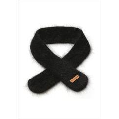 GOROKE - Slim Furry-Knit Scarf