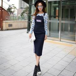 Dabuwawa - Lettering Suspender Pencil Skirt