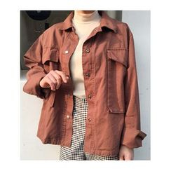 FROMBEGINNING - Flap-Pocket Snap-Button Jacket