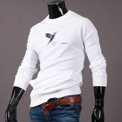 Seoul Homme - Round-Neck Printing T-Shirt